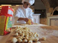making pasta at palazzo margherita, Bernalda, Basilicata