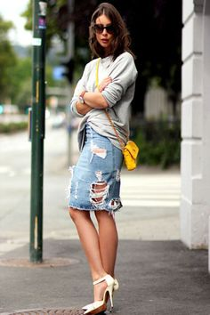 Denim Skirt Pencil