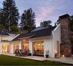 Like the outdoor fireplace.