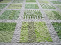 Love the all green quilt.