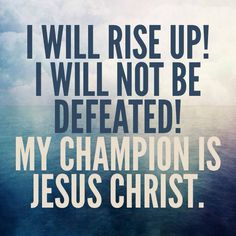 """""""Brethren, there will be times when you think you cannot continue on… [but] we have a champion, a Savior—Jesus Christ. Trust [in Him] and His love. With faith in the Lord and the power and hope of the restored gospel, you will be able to walk tall. Let us rise up and become men of God. You can do it now! In the sacred name of our Master and Redeemer."""" From Dieter F. Uchtdorf's www.pinterest.com/pin/24066179228856353 message www.lds.org/general-conference/2013/10/you-can-do-it-now"""