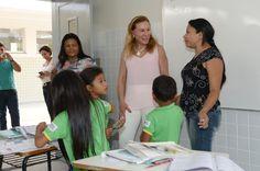 Teresa Surita visita as obras de reforma e ampliação da Escola Municipal Luiz Canará. #teresasurita #escolas #obras #boavista #roraima