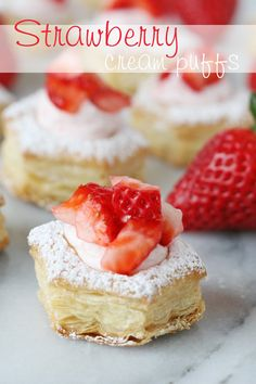 Strawberry Cream Puffs from @Glorious Treats