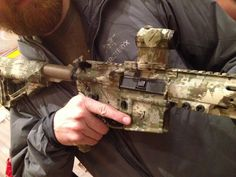 ODG Signature Rifle in Lupus (camo) from Legion Firearms. Lupus camo was designed by the Orion Design Group for the Army's Camo Improvement Project as a transitional camo.