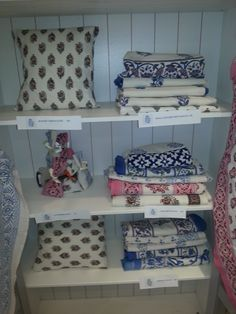 Our lovely fabrics at our Popup shop on the Kings Road.