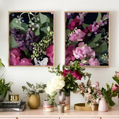 Christmas And New Year, Fine Art Paper, Vignettes, Bloom, Canvas Prints, Table Decorations, Floral, Holiday, Artwork