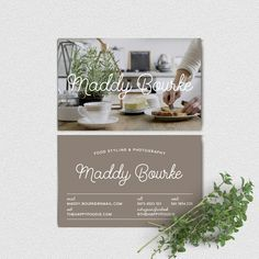 The perfect gift for the food blogger in your life  Their very own business cards!