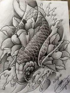 japanese tattoos for women Chinese Tattoo Designs, Japanese Tattoo Symbols, Japanese Tattoo Art, Japanese Sleeve Tattoos, Koi Tattoo Sleeve, Carp Tattoo, Koi Fish Tattoo, Koi Tattoo Design, Japan Tattoo Design