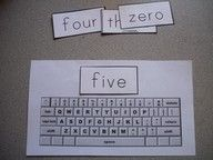 From Making Learning Fun you can download the keyboard to print on legal size paper and word strips for sight words, color words, and number words.