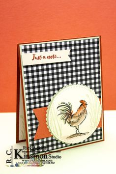 Home to Roost Gingham Card by Rick Adkins Card Making Inspiration, Making Ideas, Home To Roost, Masculine Birthday Cards, Paper Cards, Men's Cards, Stamping Up Cards, Bird Cards, Animal Cards