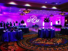San Antonio Event, Purple Uplighting