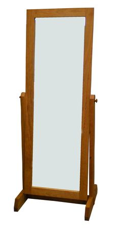 This Modern Shaker Floor Mirror is handcrafted from solid wood in beautiful Vermont. The rectangular frame is solid wood with a bevel mirror, perfect for any contemporary bedroom. Made from natural cherry, maple or walnut solid wood and eco-friendly non-toxic oil finish.