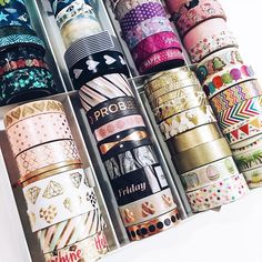 I got this Craft Stack from Michaels and absolutely love storing my washi tapes in it. Just added the new rose gold #Recollections set to my collection!