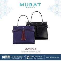 "👜 ETONNANT By: @muratparisofficial 💍💎 Autumn / Winter 2016 Collection."" 🍁❄• Follow us on our social networks! @worldsbestbrand •  #jewlery  #love #design #miami #MURAT  #instagood #me #follow #cute #photooftheday #like #followme #happy #wbb #beautiful#paris #picoftheday #usa #instadaily #smile #eeuu  #friends #usa #glamour #funny #nice #bparty #autumn #winter"