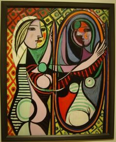 ♥ Girl before a Mirror ♥ Oil on Canvas - 1932 Pablo Picasso, Spanish, 1881-1973