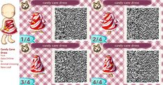 Animal Crossing New Leaf Qr Codes Dirt Pathways Candycaneqr_zps217d4e25.png
