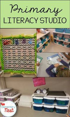 Literacy Studio for primary education- Daily 5 in my classroom was slightly tweaked to fit the needs and schedule- here is a blog post that shows how I organized a literacy studio in my first grade classroom