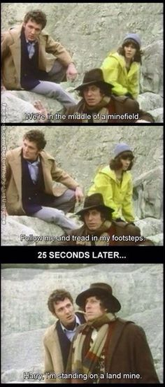 Doctor Who ~ Tom Baker, 4th Doctor, Harry, and Sarah Jane