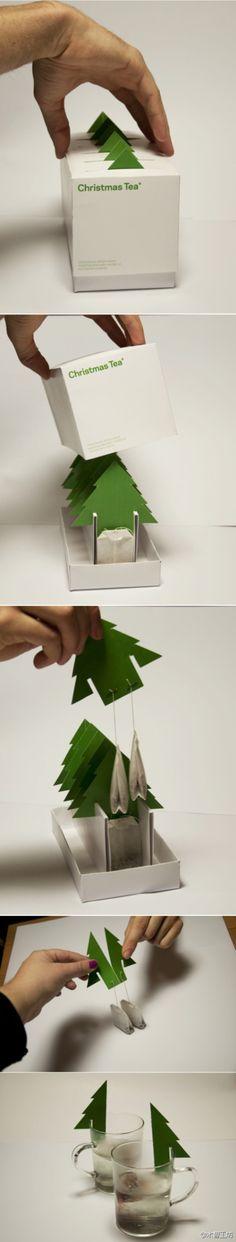 克罗地亚Mint工作室设计的圣诞树茶包(Christmas Tea)。