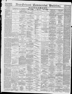 ORLEANS PARISH, Lousiana - New Orleans - 1866-67. 1869-71 - New-Orleans Commercial Bulletin - Google News Archive Search