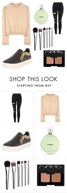 """Untitled #25"" by sighk ❤ liked on Polyvore featuring Topshop, Acne Studios, Ash, Chanel, Bobbi Brown Cosmetics and NARS Cosmetics"