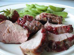 Grilled Pork Tenderloin with Strawberry BBQ Sauce, Holistic Recipe