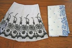 V and Co.: tutorial: the table cloth skirt