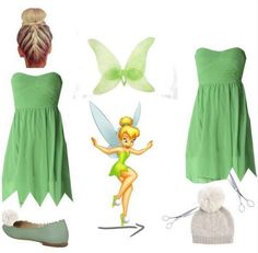 Simple Tinkerbell Teen Costume | Cute and Fun Halloween Costumes by DIY Ready at http://diyready.com/diy-tinkerbell-costume-ideas/                                                                                                                                                                                 More