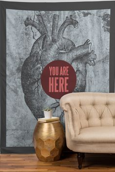 Wesley Bird You Are Here Tapestry | DENY Designs Home Accessories