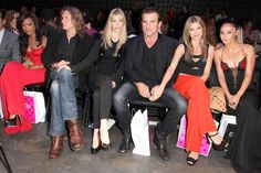 Dominic Purcell Photos Photos - (L - R)  Tiffany Hines, Abri van Straten, Kristin Bauer, Dominic Purcell, Annalynne McCord and  Cara Santana attend Eva Minge Spring Summer 2012 fashion show at Good Units at Hudson Hotel on September 10, 2011 in New York City. - Eva Minge Spring Summer 2012 - Front Row