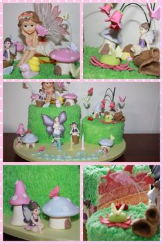 This cake was a delight to make, lots of fun creating an enchanted fairy garden, xo See more at https://www.youtube.com/user/cakesbysharon
