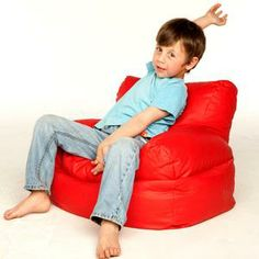 comfy beanbag chair with a backrest very cool