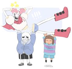 By @zfedraws  (twitter) - Omg sooo cute! :D Sans, Papyrus, and Frisk! :)