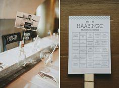 Wedding Day Story Marjaana + Jani. Helsinki, Finland. Wedding bingo by MakeaDesign. Hääbingo