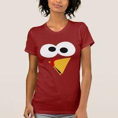 Funny Thanksgiving Turkey Face T-Shirt | Zazzle.com
