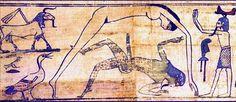 Le dieu de la terre  Geb et sa femme et soeur la déesse du ciel ont procréé Osiris, Isis, Seth et Nephtys . Les six font partie de l' ennéade(9) d' Héliopolis. Par la suite Shu le dieu de l'air, fils de Ra et père de Geb et Nout, sépare le couple en s'interposant.