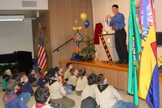 #Cub #Scout Blue and Gold #Banquet in Olympia with #magician Jeff Evans.
