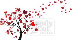heart+shaped+tree+with+2love+birds | You are here: Home / Graphics / Flowers/Trees / Heart Tree