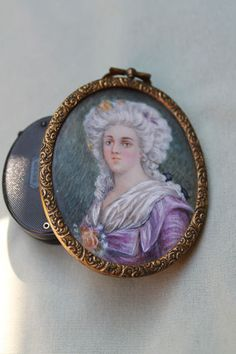 Antique Miniature Portrait Painting of Lady on Ivory | eBay