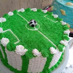 New Cupcakes Decorados 15 Anos Ideas Cake Decorating Techniques, Cake Decorating Tips, Cake Icing, Buttercream Cake, Tea Cakes, Cupcake Cakes, Cupcakes, Soccer Birthday Cakes, Soccer Cakes
