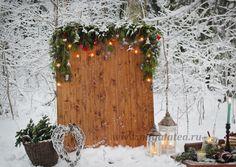 фотозона, фотофон, зимняя фотосессия в лесу
