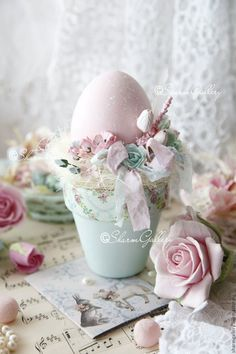 Ideas For Craft Ideas Easter Flower Pots Easter Egg Crafts, Easter Projects, Easter Bunny, Easter Eggs, Easter Flowers, Easter Holidays, Egg Decorating, Vintage Easter, Easter Wreaths