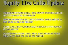 Ripples's Commodity Blog: Live Calls Update By Ripples Advisory