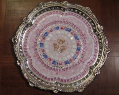 Round shabby mosaic silver tray - finished | Flickr - Photo Sharing!