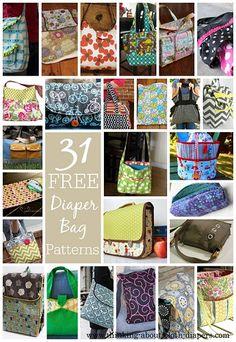31 Free Diaper Bag Patterns & Tutorials