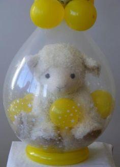 decoracion con globos para baby shower de ni o more