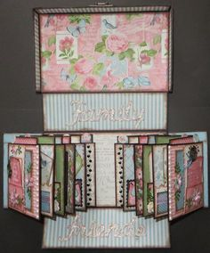 A Gorgeous Mini Album - Graphic 45 Botanical tea gate fold mini album Mini Albums, Mini Photo Albums, Mini Scrapbook Albums, Graphic 45, Origami, Book Crafts, Paper Crafts, Tutorial Scrapbook, Mini Album Tutorial