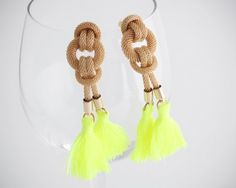 Miss Pretty The Rope earrings with light green tassels. Nautical look from www.moxyst.com