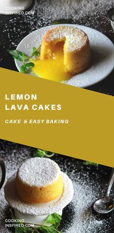 Cakes with an oozing Lemon Curd center, perfect for lovers of citrus desserts! Lemon Cakes with an oozing Lemon Curd center, perfect for lovers of citrus desserts! Cakes with an oozing Lemon Curd center, perfect for lovers of citrus desserts! Lemon Ca. Lemon Curd Dessert, Lemon Desserts, Lemon Recipes, Just Desserts, Sweet Recipes, Baking Recipes, Lemon Cakes, Delicious Desserts, Yummy Food