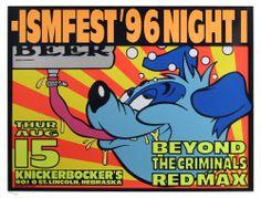 ISMFEST Beyond The Criminals Red Max 1996 Original Poster by Frank Kozik S/N